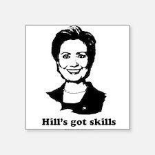 "Funny Madame president Square Sticker 3"" x 3"""