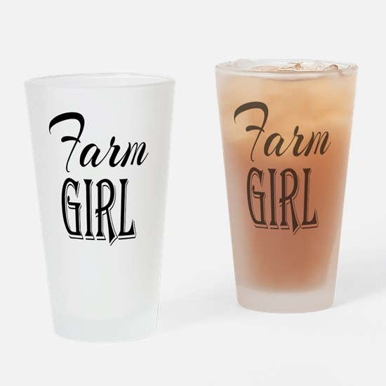 Farm Girl Drinking Glass
