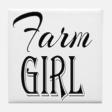 Farm Girl Tile Coaster
