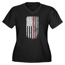Thin Red Line Flag Plus Size T-Shirt