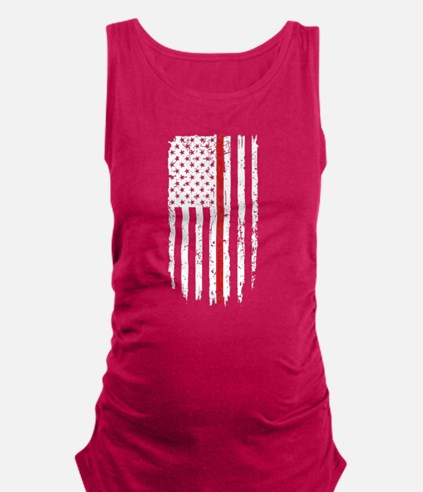 Thin Red Line Flag Maternity Tank Top
