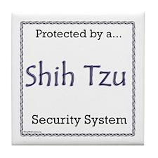 Shih Tzu Security Tile Coaster