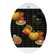 thanksgiving Oval Ornament