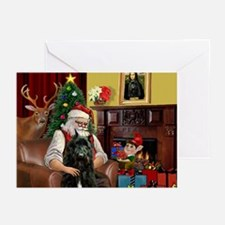 Santa's Bouvier Greeting Cards (Pk of 20)