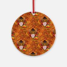 thanksgiving turkey Round Ornament