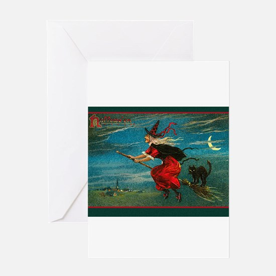 Unique Flying cat Greeting Card