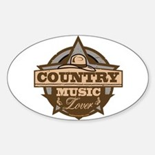 Country Lover Sticker (Oval)