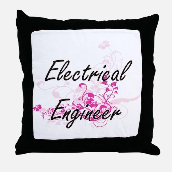 Electrical Engineer Artistic Job Desi Throw Pillow