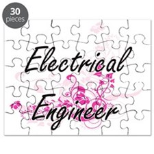 Electrical Engineer Artistic Job Design wit Puzzle
