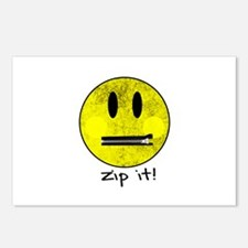 SMILEY FACE ZIP IT Postcards (Package of 8)