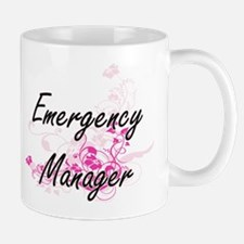 Emergency Manager Artistic Job Design with Fl Mugs