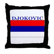 Djokovic Serbia Serbian Throw Pillow