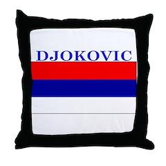 Djokovic Serbia Serbian Throw Pillow