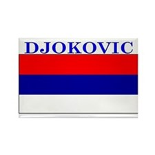 Djokovic Serbia Serbian Rectangle Magnet