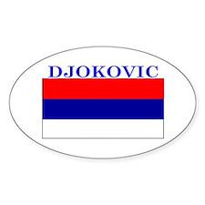 Djokovic Serbia Serbian Oval Decal