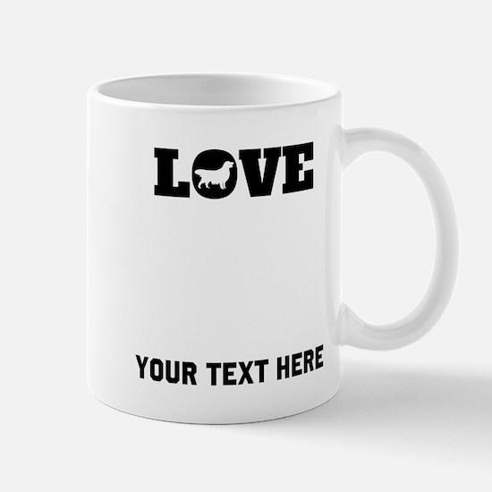 Golden Retriever Love (Custom) Mugs