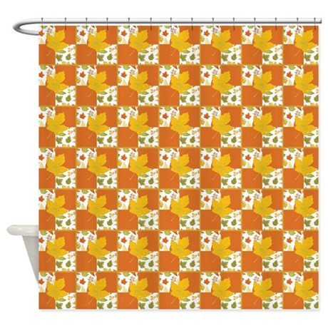 FALL LEAF TILE Shower Curtain By DecorateYourHome