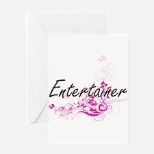 Entertainer Artistic Job Design wit Greeting Cards