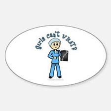 Light X-Ray Technologist Oval Decal