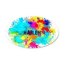 HARLEM BURST Oval Car Magnet