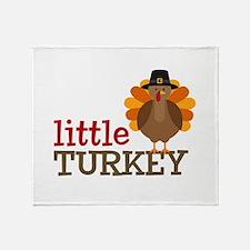 Little Turkey Throw Blanket
