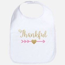 Glitter Thankful Bib