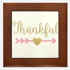 Glitter Thankful Framed Tile