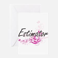Estimator Artistic Job Design with Greeting Cards