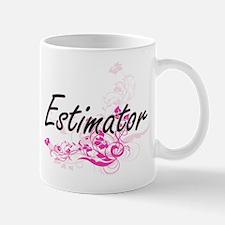 Estimator Artistic Job Design with Flowers Mugs