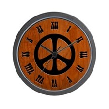 Cut-Out Wood Peace Wall Clock