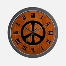 Cut-Out Wood Peace Wall Clock