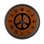 Cut-Out Wood Peace Large Wall Clock