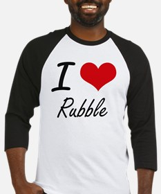 I Love Rubble Baseball Jersey