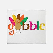 Gobble Turkey Throw Blanket
