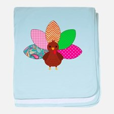 Colorful Turkey baby blanket