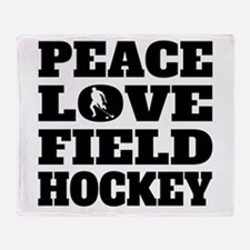 Peace Love Field Hockey Throw Blanket