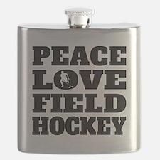 Peace Love Field Hockey Flask