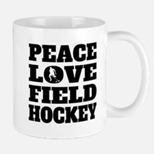 Peace Love Field Hockey Mugs