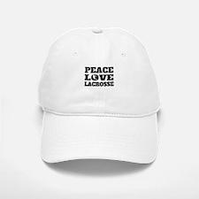 Peace Love Lacrosse Baseball Baseball Baseball Cap