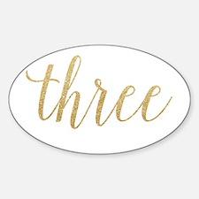 Glitter Three Decal