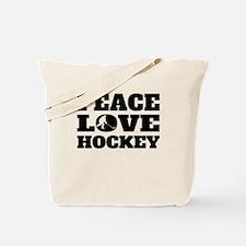 Peace Love Hockey Tote Bag