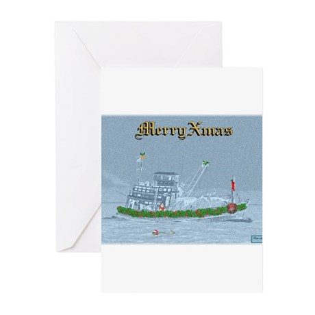 Merry XMAS on the River Greeting Cards (Pk of 20)