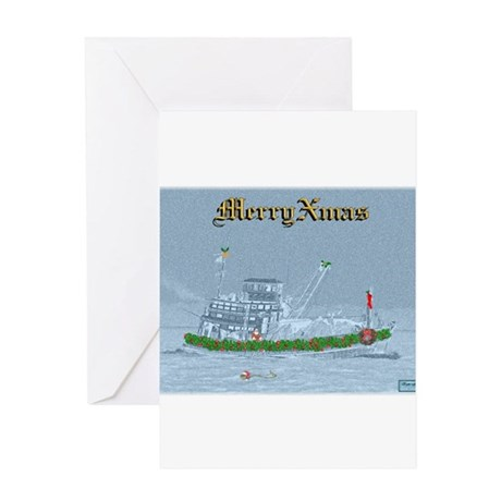 Merry XMAS on the River Greeting Card
