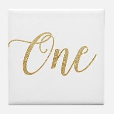 Glitter One New Tile Coaster
