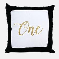Glitter One New Throw Pillow