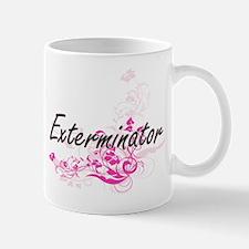 Exterminator Artistic Job Design with Flowers Mugs