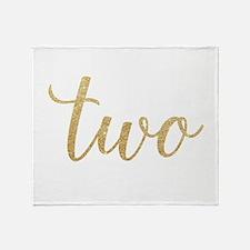 Glitter Two Throw Blanket