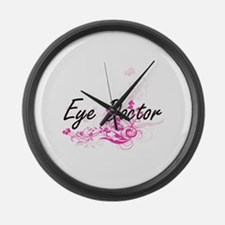Eye Doctor Artistic Job Design wi Large Wall Clock