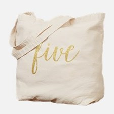 Glitter Five Tote Bag