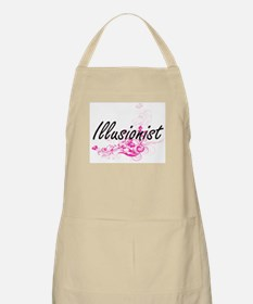 Illusionist Artistic Job Design with Flowers Apron